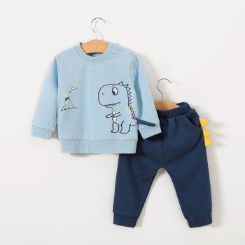 Комплект-двійка Pingvik 8693 розмір 110 колір темно-синій + блакитний