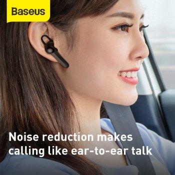 Беспроводная Bluetooth гарнитура Baseus Encok Wirelless Earphones A05 + USB док-станция Черный