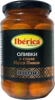Оливки Iberica Мохо Пикон с чесноком и ароматом перца 370 г (8436024298031)