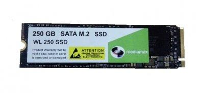 Накопичувач SSD 250GB Mediamax M. 2 2280 NVMe PCIe 3.0 x4 3D NAND TLC Black (WL 250 SSD Black) - Refubrished