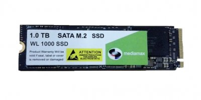 Накопичувач SSD 1TB Mediamax M. 2 2280 NVMe PCIe 3.0 x4 3D NAND TLC Black (WL 1000 SSD Black) - Refubrished