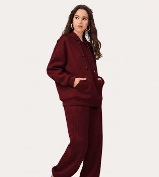 Костюм жіночий спортивний утеплений 2 в 1 Basic burgundy Berni Fashion Бордовий