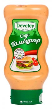 Упаковка соуса Develey Гамбургер 410 г х 2 шт (1906425140972)