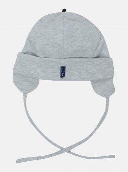 Демисезонная шапка с завязками Elf-kids Алан 46 см Серая (ROZ6400046036)