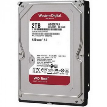 HDD SATA 2.0 TB WD Red NAS 5400rpm 256MB (WD20EFAX)