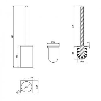 Ершик для унитаза Q-tap Liberty BLM 1157-2 Черный (SD00040041)