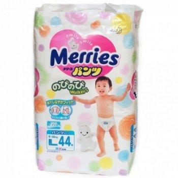 Трусики Merries (Мерриес) L (9-14кг) 44шт.