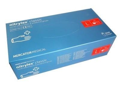 Перчатки нитриловые Nitrulrx Classic синие (уп 200шт 100пар) размер L (8889)