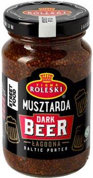 Упаковка горчицы с темным пивом Roleski 210 г х 2 шт (1901044023316)