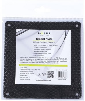 Комплект пилових фільтрів Gelid Mesh 140 Dust Filter KIT для 140 мм вентиляторів 3 шт. (SL-Dust-02)
