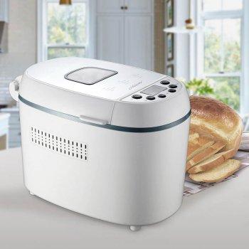 Хлібопічка Maestro краща домашня хлібопічка з замісом на 12 програм для простого смачного хліба, кексу, здоби, паски, паски і джему. Біла MR751W