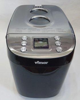 Хлібопічка VIMAR краща домашня хлібопічка з замісом на 15 програм для простого смачного хліба, пирога, кексу, йогурту, здоби, паски, паски і джему. Чорна VBM725B