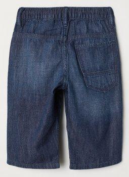 Шорти джинсові H&M 2502-6434508 Темно-сині