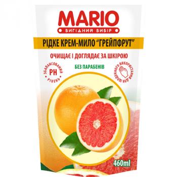 Жидкое крем-мыло MARIO 460мл (дой-пак) Грейпфрут