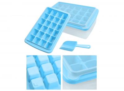 Форма для льда с контейнером и лопаткой Голубая 91-8725364
