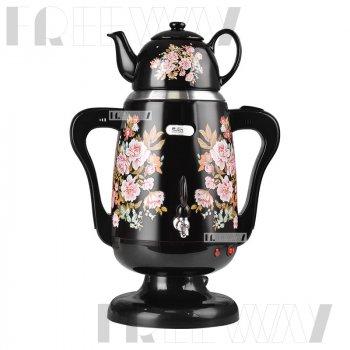 Самовар електричний з заварювальний чайником (3.5+0.8 л) 1800Вт DSP Чорний (KK1141)