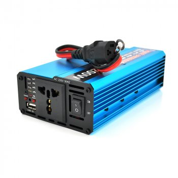 Інвертор напруги Voltronic, 1200W, 60/220V, approximated, 1 універсальна розетка, клеми + USB YT-1200W-CI60V