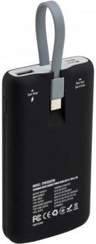 УМБ Vinga SuperQC Soft Touch w/cable 10000 mAh Black (VPB1SQSCBK)