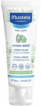 Зволожуючий крем для обличчя Mustela Hydra-Bebe Face 40 мл (3504105030797/3504105035969)