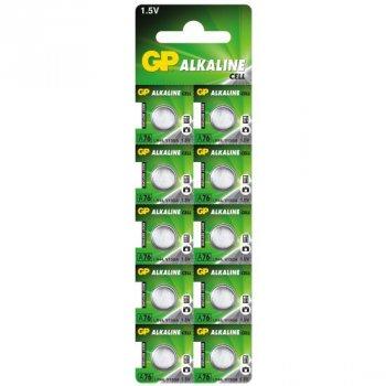 Батарейка щелочная GP A76/LR44/AG13/V13GA (A76F-2C10), 1.5V, блистер 10шт разрывной