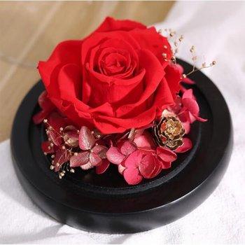 Стабілізована троянда в колбі Lesko L-1346 Red