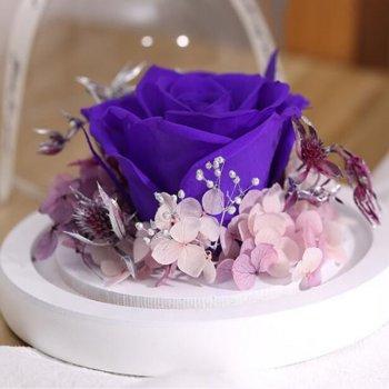 Стабілізована троянда в колбі Lesko L-1346 Purple