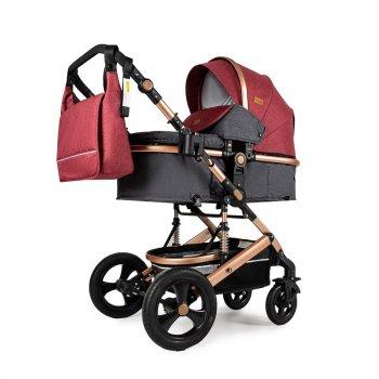 Универсальная коляска трансформер 3в1 Ninos Brava New, Red Grey