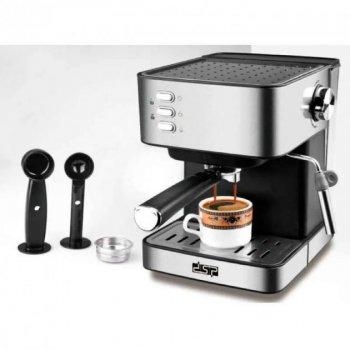 Кофемашина полуавтоматическая Espresso Coffee Maker с капучинатором DSP KA-3028 850 Вт