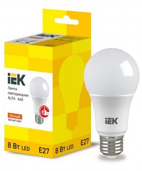 Лампа LED ALFA A60 куля 8Вт 230В 3000К E27 IEK (LLA-A60-8-230-30-E27)