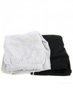 Чоловічі спортивні утеплені штани з гумкою внизу 2 шт. Fruit of the loom чорний-світло-сірий WE-550039