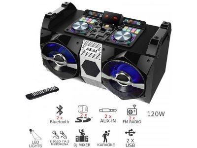 Портативная акустическая система Akai DJ-530