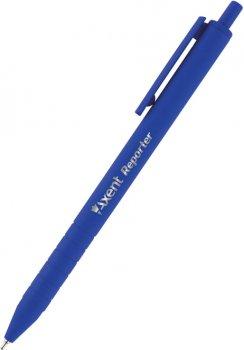 Набор ручек Axent Reporter автоматических масляных Синих 0.7 мм Синий корпус 12 шт (AB1065-02-A)