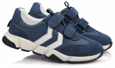Кроссовки TOPITOP 508 для мальчиков синие, кожа+нубук