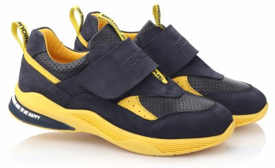 Кроссовки TOPITOP 529 для мальчиков сине-желтые, нубук
