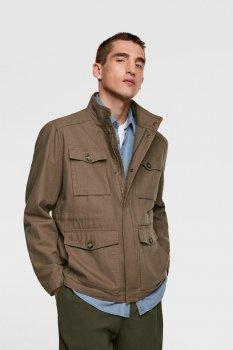 Куртка Zara коричнева джинсова демісезонна