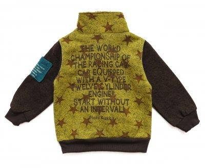 """Теплая кофта """"Звёзды"""" Pieni Kukka для мальчика Желтая с коричневым"""