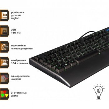 Дротова клавіатура Frime Graphit USB (FLK19600)