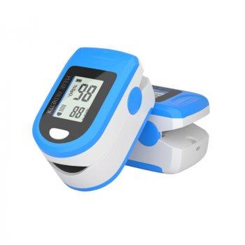 Пульсоксиметр оксиметр пульсометр на палец SCT X1906 для сатурации и частоты пульса с Европейским сертификатом + батарейки