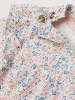 Боди-платье H&M 1703-8294071 Белое