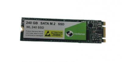 Накопитель SSD 240GB Mediamax M.2 2280 SATAIII 3D NAND TLC (WL 240 SSD) Refurbished наработка до 1%