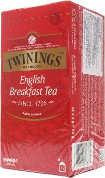 Упаковка чая черного Twinings English Breakfast 2 г х 25 шт (70177010775)