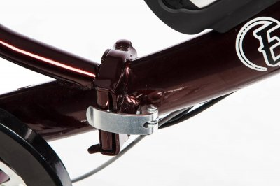 Електровелосипед складаний E-motion з низькою рамою 36V 10Ah 350W темно-червоний (21NRED)