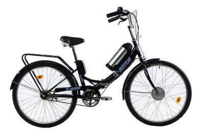 Электровелосипед складной E-motion с низкой рамой 36V 10Ah 350W черный-синий (21NCHS)