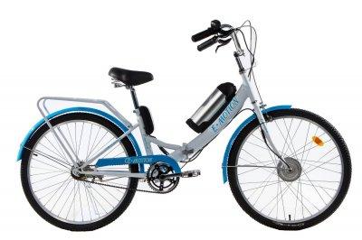 Електровелосипед складаний E-motion з низькою рамою 36V 10Ah 350W біло-блакитний (21NBG)