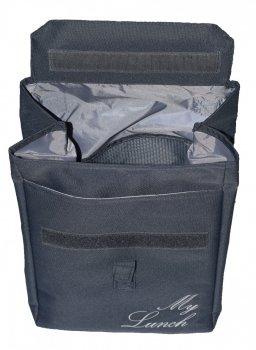Термо сумка - рюкзак Dolphin Ланч бег з вишивкою My lunch сірий