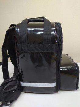Рюкзак, термосумка для доставки їжі з відділенням для коробок на піцу Dolphin 42х42 див. 45x24 см Чорний