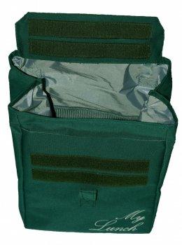Термо сумка - рюкзак Dolphin Ланч бег з вишивкою My lunch 19х25х26 см 7 л Темно -зелений