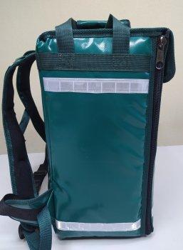 Термосумка Dolphin для кур'єрської доставки їжі, обідів, піци. ПВХ матеріал . Світло зелена