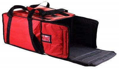 Термосумка с вкладышем на 5-6 коробок 32х32 см для курьерской доставки пиццы. Dolphin Комплект. 44х44х27 см 40 л Красная
