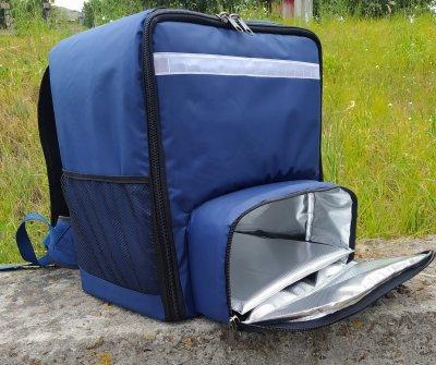 Рюкзак, термосумка для доставки їжі з відділенням для коробок на піцу Dolphin 42х42 см 45x24 см Синій